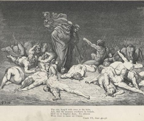 Gustave Doré, Canto 6, Inferno